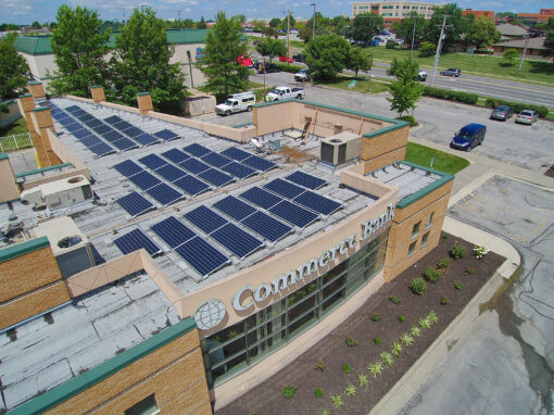 SunPower Solar Array Commerce Bank, Missouri
