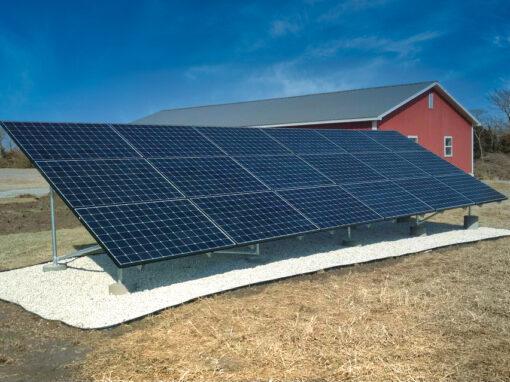 Residential Home Solar Array in Ozawkie, Kansas