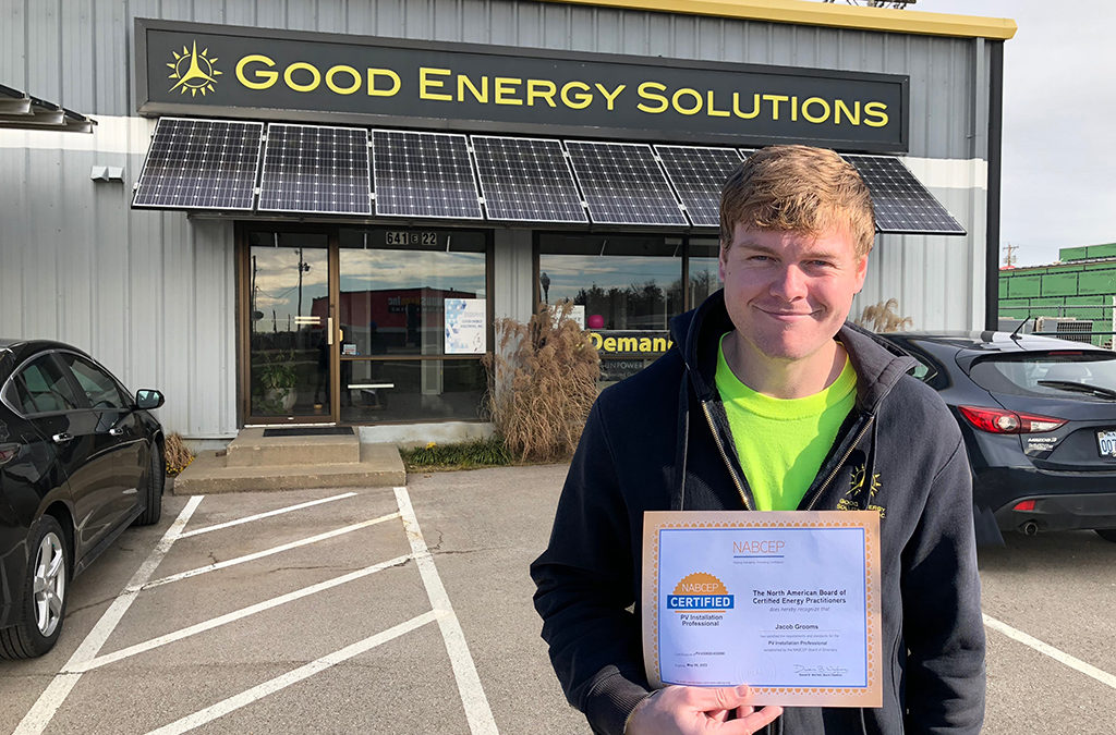 Another Good Energy Solutions Employee Earns NABCEP Certification