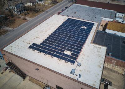 ES Lighting Solar Array in Lawrence, Kansas.