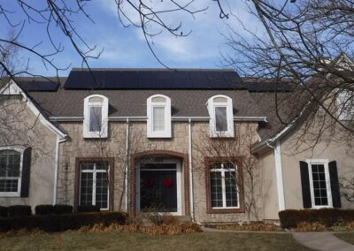 Rooftop Home Solar Array in Leawood, Kansas