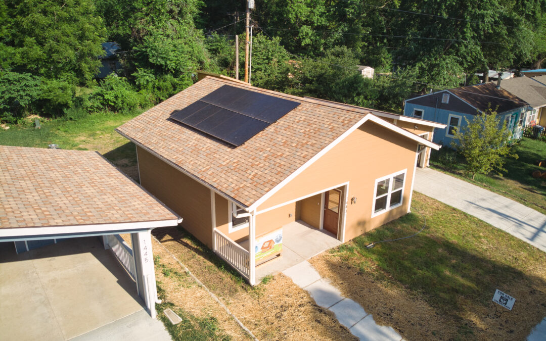 Lawrence's First Affordable Home Featuring Solar Power