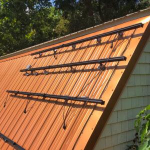 Solar Panel Rail Mounts on a Metal Roof