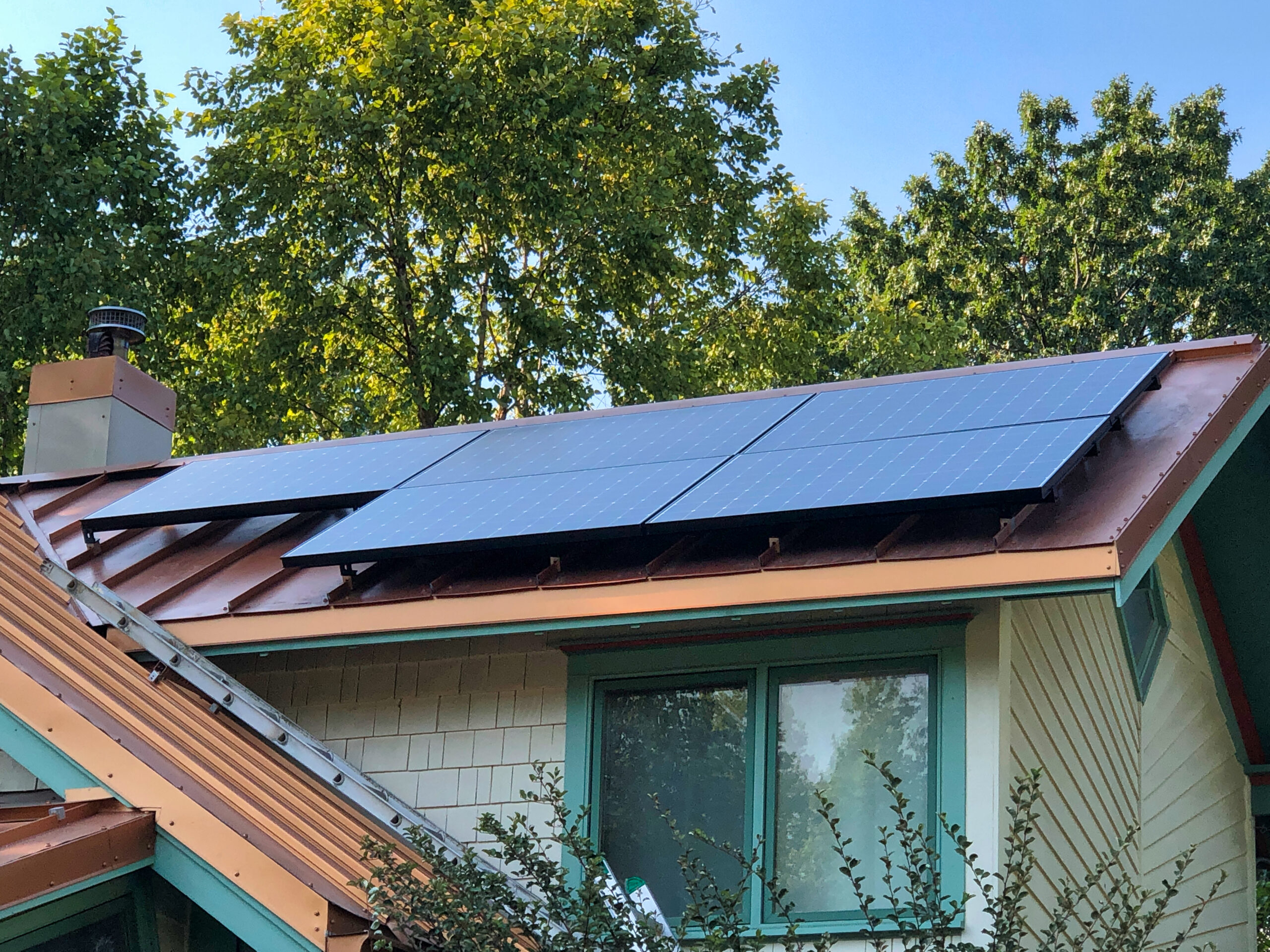 Solar Panels Installed on a Metal Roof